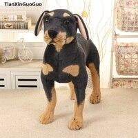 simulation Rottweiler dog large 38x35cm standing dog plush toy ,birthday gift h0778