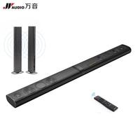 JY Audio Q9 60W Aluminium Bluetooth TV Soundbar 3D 5.1 Home Theater for Computer AUX Transformation Sound Bar Wireless Speakers