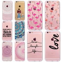 7 6s animals transparent case for iphone 7 6 6s floral paisley grils flamingo love words.jpg 250x250