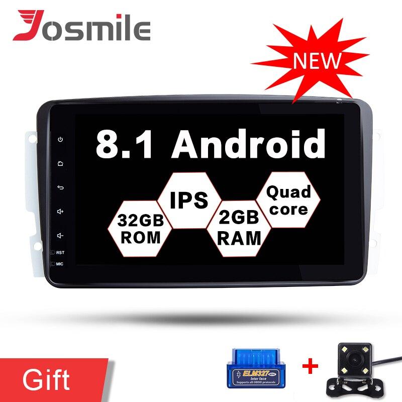 Android Voiture GPS Lecteur Pour Mercedes/Benz/CLK/W209/W208/Vaneo/Viano/Vito multimédia Radio Stereo Head Unité Quad Core Wifi DAB FM