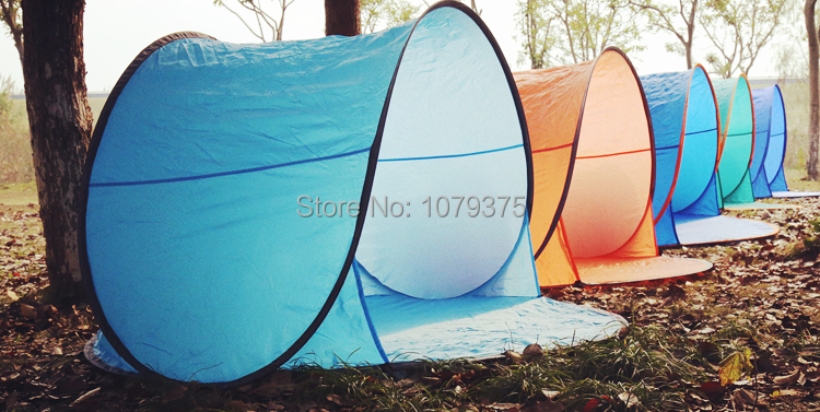 Free shipping Outdoor c&ing tent beach tent UV protection fully automatic sun shelter quick open pop up beach awning-in Tents from Sports u0026 Entertainment ... & Free shipping Outdoor camping tent beach tent UV protection fully ...
