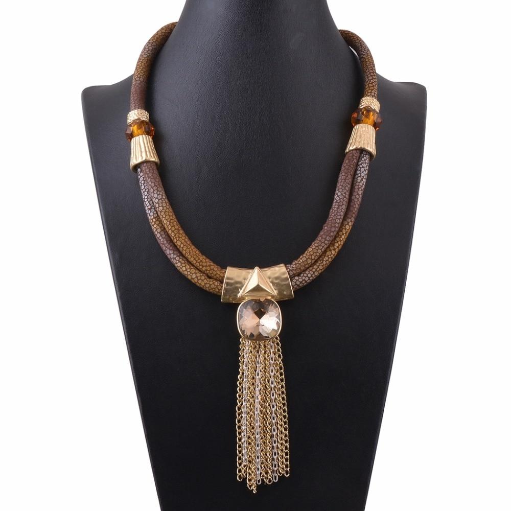 New Style Fashion Jewelry Matte Gold Women\'s Choker Rope Necklace ...