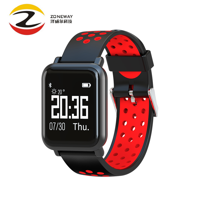 2018 SN60 Blood Pressure Smart Watch Heart Rate Sleep Monitor Sports Smart Band IP68 Waterproof Swimming