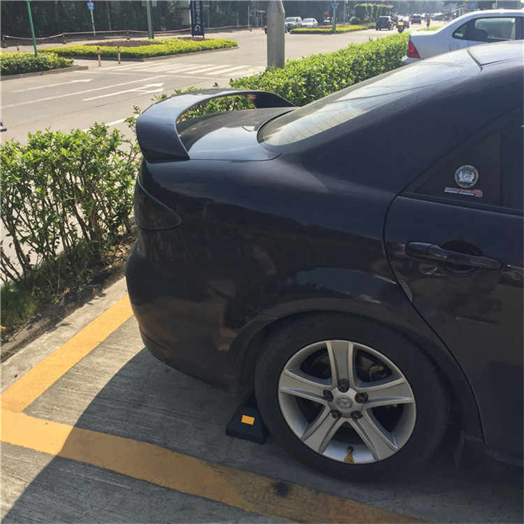 Para Mazda 6 Spoiler 2006-2013 Mazda6 sedán DKDD Spoiler Material plástico ABS de coche ala trasera Color Spoiler trasero