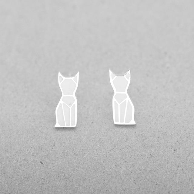10 Paires De Tatouage Origami Chat Boucles D Oreilles Pour Les