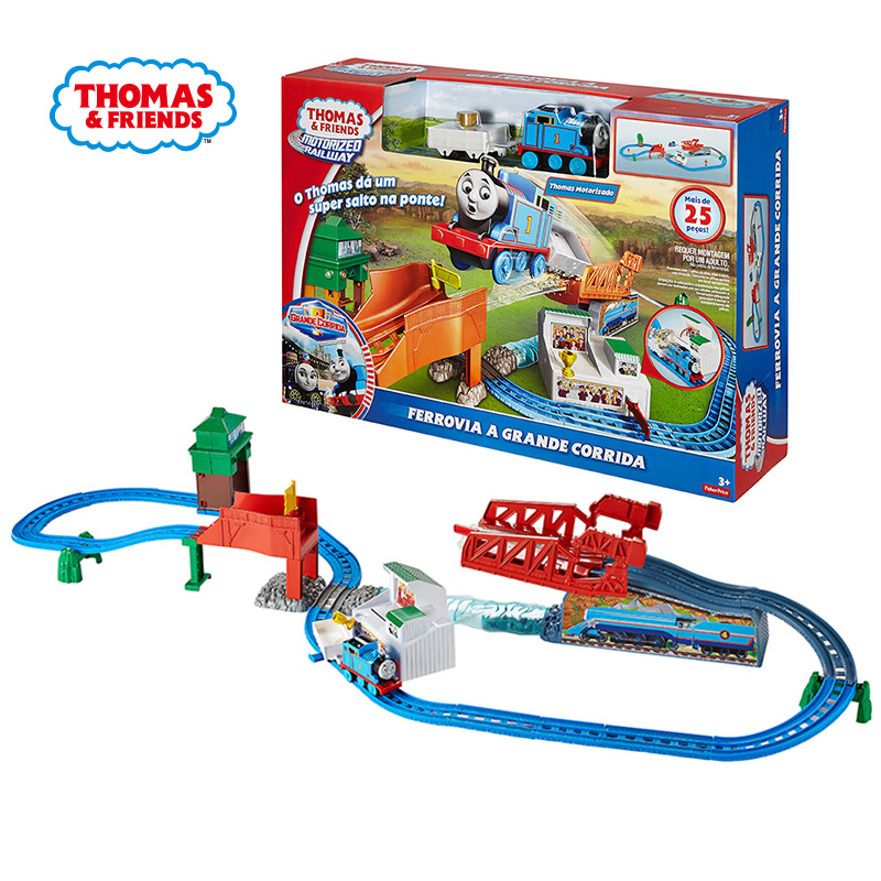 Original Thomas And Friends Electric Orbital Suit Compete Speed Leap Orbital Diecast Boys Children Birthday Gift Toys