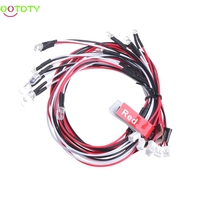 1Set 12 LED Flashing Head Light System Lighting Kit For RC 1 10 Scale Car Helicopter