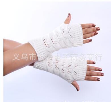 Twist Hollow Half Finger Women Gloves Guantes Winter Spring Knitting Fingerless Gloves Female Lady Girl Hand Mittens,gants Femme