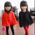 Free shipping New han Edition Girls Fall Winter Long Sleeve With Velvet Cloak With Thick Coat