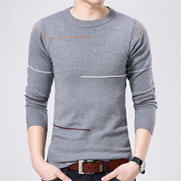 2017 Solid Color Pullover Men V Neck Sweater Men Long Sleeve Shirt Mens Sweaters Casual Dress