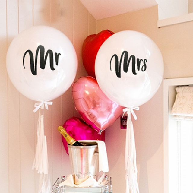 10 Pieces Lot Inch Mr Mrs Balloon Just Married She Said Yes Balloons