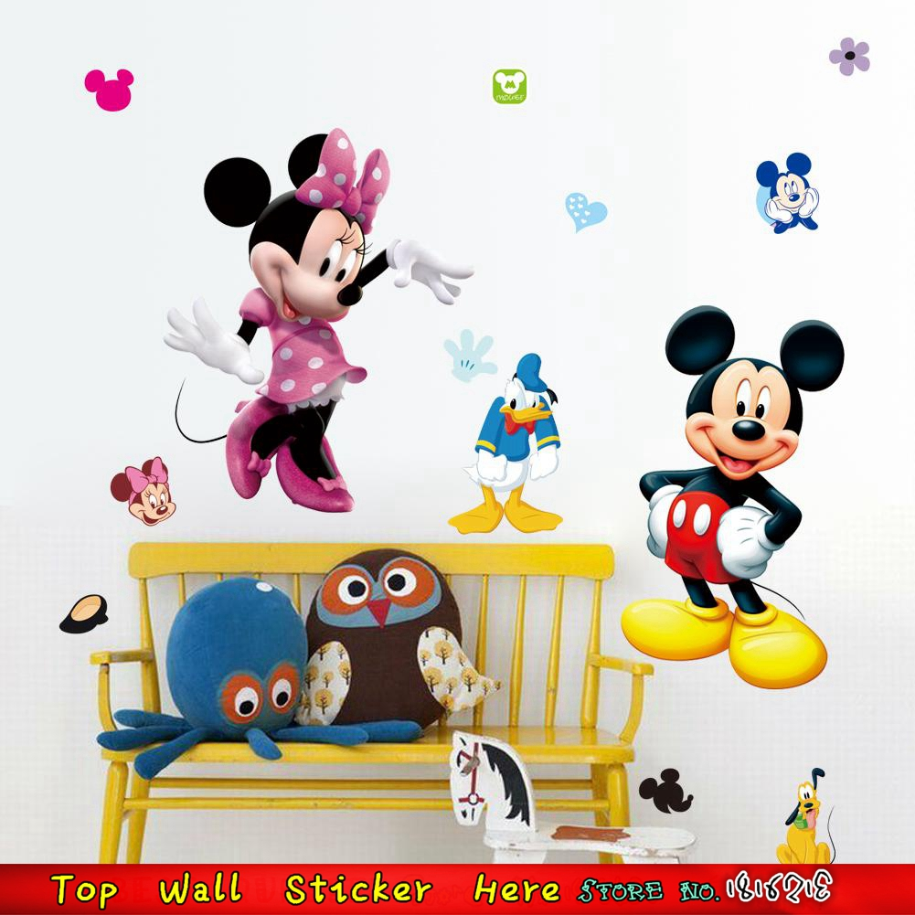 Abnehmbare Mickey Mouse Wandaufkleber Hause Kinderzimmer Dekoration ...