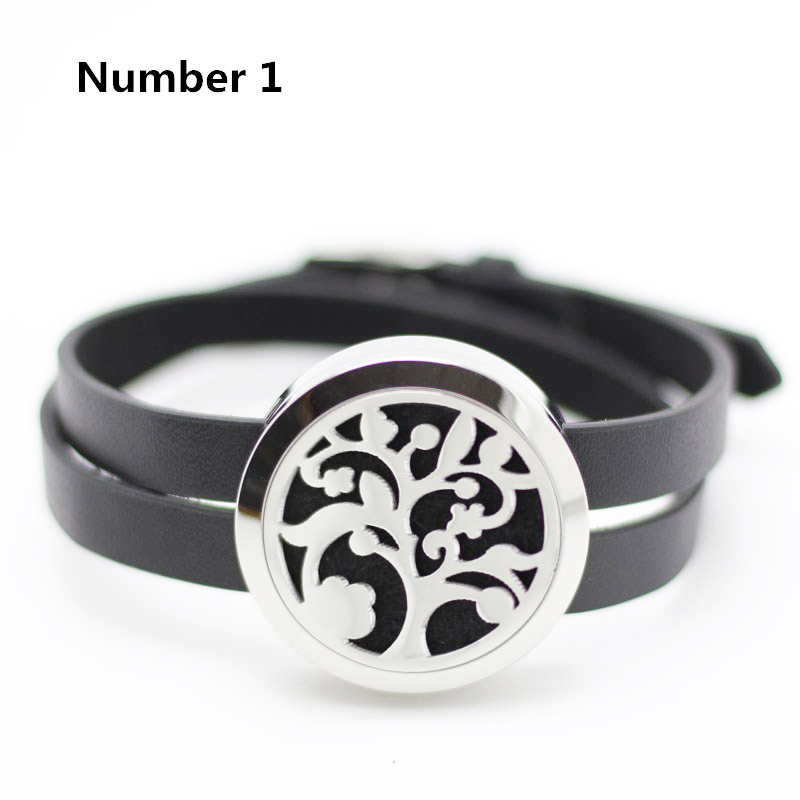 316L stainless steel floating locket bracelet silver 25mm 30mm aromatherapy leather bracelet diffuser (free with 5pcs pads)