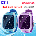 DS18 Waterproof Smart Baby Watch GPS Tracker For Kids 2016 Wifi SOS Anti Lost Location Finder Smartwatch For IOS Android PK Q90