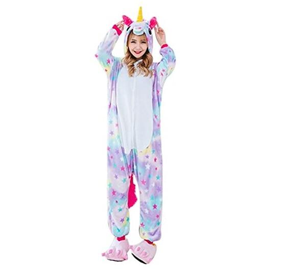 Hot Winter Cartoon Animal Pegasus Unicorn Pajamas Kids Children Flannel Hooded Long Sleeve Sleepwear Unicornio Licorne Femmes