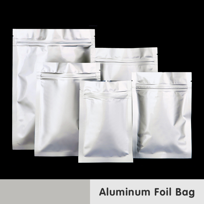 Aluminiumfolie Laminering Packning Zip Lås Mat Mylar Väskor Medicinsk Snacks Kaffe Lukt Proofpaket Värmeförsegling Återförslutbar påse