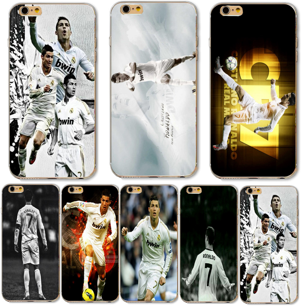 Football Madrid Cristiano Ronaldo CR7 Printed Phone Case For Apple iphone 5 5S SE Soft Silicone Cover Fashion Cell Phone Cases