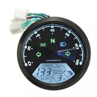 ABS Material 12V Universal Digital Motorcycle Speedometer Odometer Gauge Backlit Dual velocimetro moto with LED Indicator