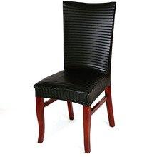 Cuero de la pu cubierta de la silla Elástica stoelhoezen eetkamer nueva moda Spandex Cubierta de la Silla de Oficina