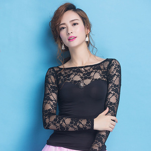 Image 3 - Newest Fashion Modern lace long sleeve Costume comfortable sexy Latin dance top for women/female/lady, performance wear YC1004