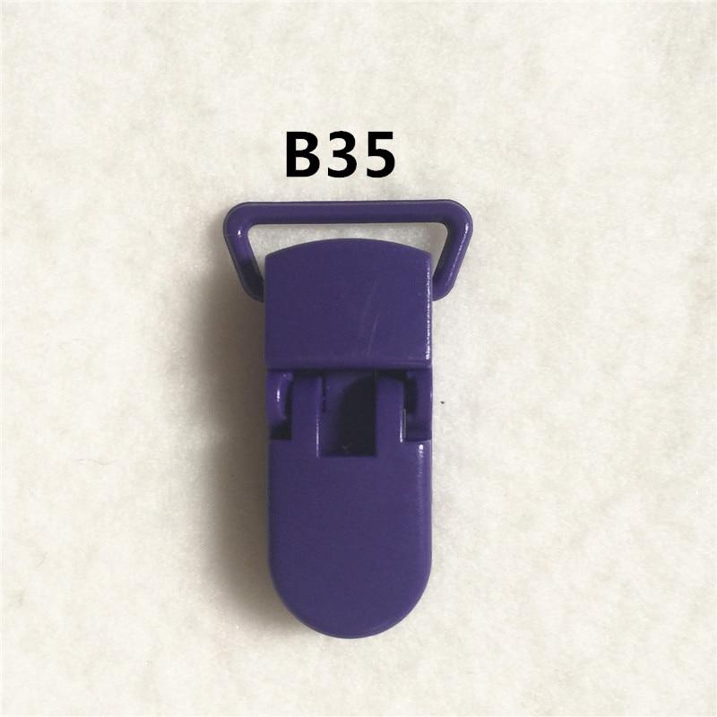 20 цветов) DHL 200 шт. 20 мм КАМ Пластик маленьких Соски NUK MAM пустышка Chain Зажимы чулок Зажимы - Цвет: B35
