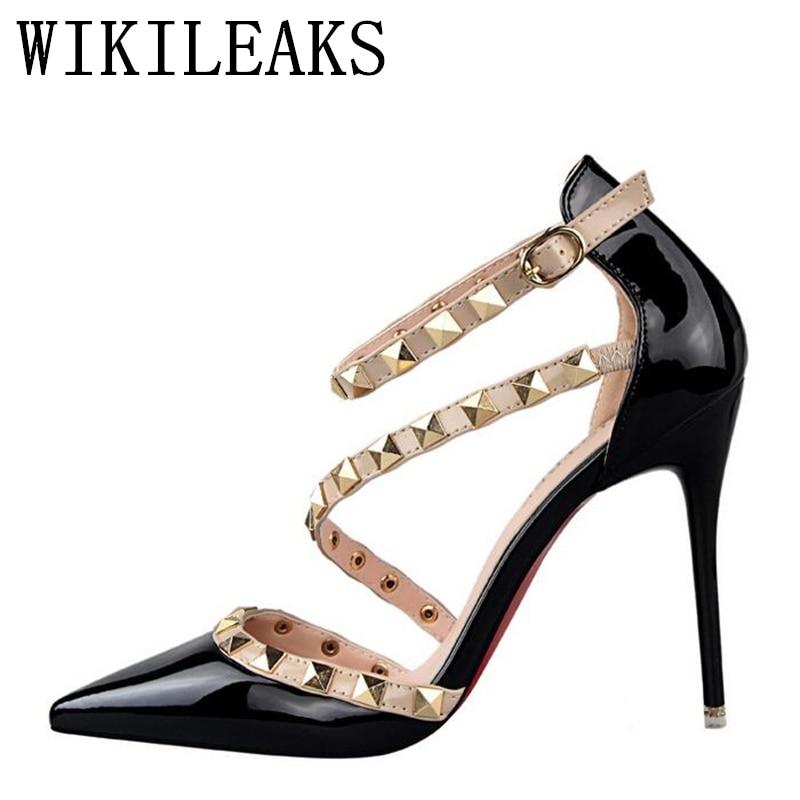 timeless design 92b70 a4f5d US $18.99 50% OFF|Fetisch high heels frauen designer schuhe 2019 patent  leder damen hochzeit schuhe braut stiletto schuhe sexy pumps schuhe  alias-in ...