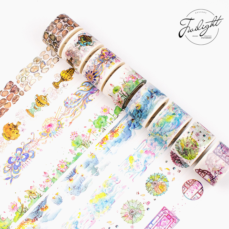 15 Style New Design Romantic Chinese Old Style DIY Masking Tape Beautiful Ancient Washi Tape