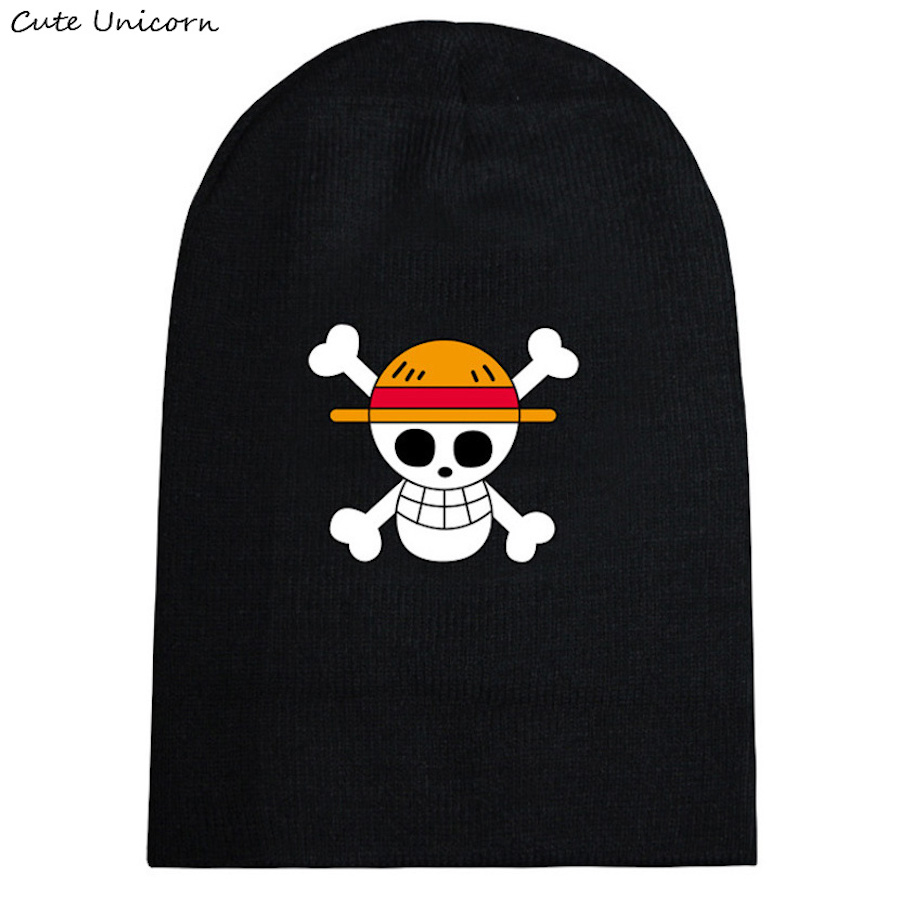 One Piece Luffy autumn winter hat beanies unisex knitted cap casual hats for women hip hop Skullies anime beanie female gorro