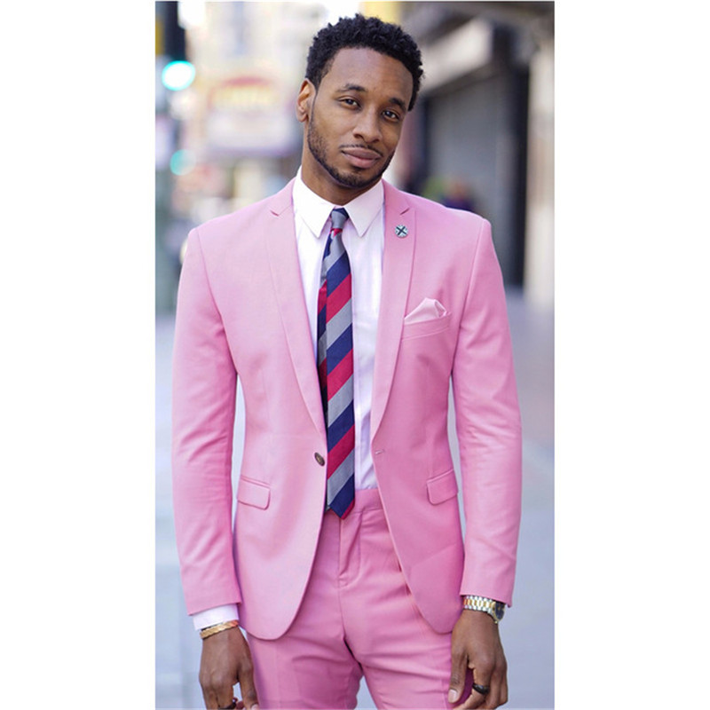 Can Be Custom Made!!! Gentle-Mens Wedding Suits For Men Blazer Mens Suits Groom Tuxedo 2 Piece Terno Masculino (Jacket+Pants)