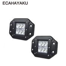 ECAHAYAKU 2pcs 18W 4 INCH Head light LED WORK LIGHT FOR OFF ROAD ATV UTV SUV 4x4 car styling accessories Auto Driving Fog Lights
