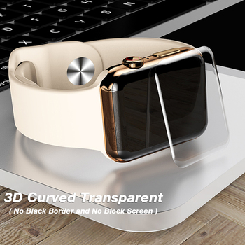 2019 New 6D Tempered Glass Screen Protector for Apple watch 4 full cover UV Glue 40 44mm film  1 2 3 38 42mm screen protector