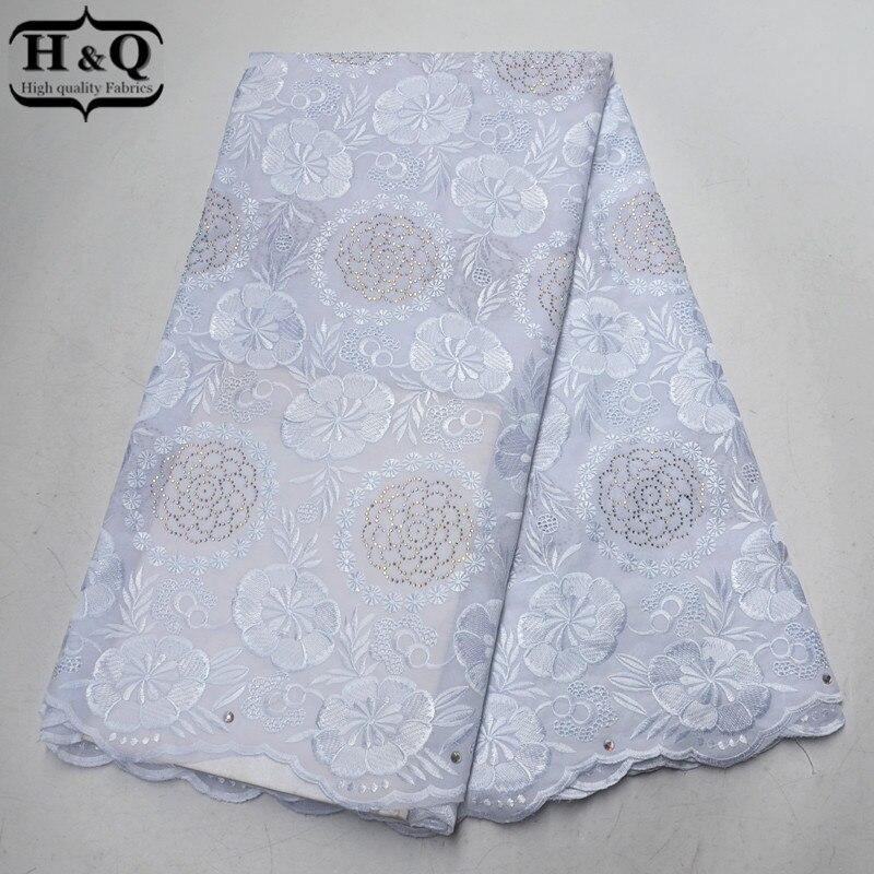Dentelle de Voile suisse blanche en suisse dentelle de broderie africaine 5 Yards tissu de dentelle de coton africain 100% coton pour robe de mariée