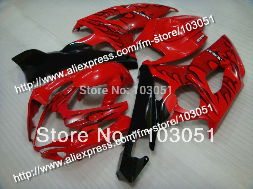 Injection molding custom for 2005 suzuki gsxr 1000 fairings K5 2006 GSXR 1000 fairing 05 06 black flame in glossy red HM78 custom road fairing kits for suzuki glossy flat black 2006 gsxr 1000 k5 2005 gsx r1000 06 05 motorcycle fairings kit