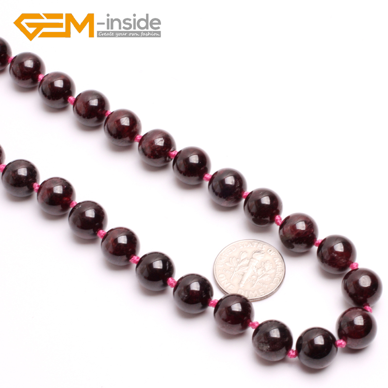 red natural garnet stone necklace Birthstone of January Symbol of virginity, honesty, love and truth Guardian stone for Scorpio.