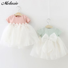 Melario Baby Girl Dresses 2019 Baby Girl Birthday Party Tutu Dresses for Toddlers Princess Clothes 1 Year Girls Baptism Clothing(China)