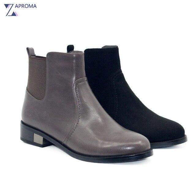 Chaussures automne à fermeture éclair grises femme bzVhKA