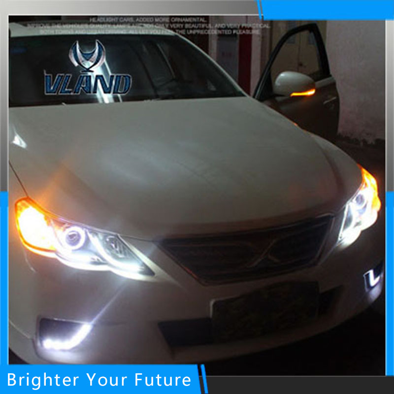 LED Head Light For Toyota Reiz/Mark X 2010 2011 2012 2013 Headlights Bi xenon Lens Projector LED DRL