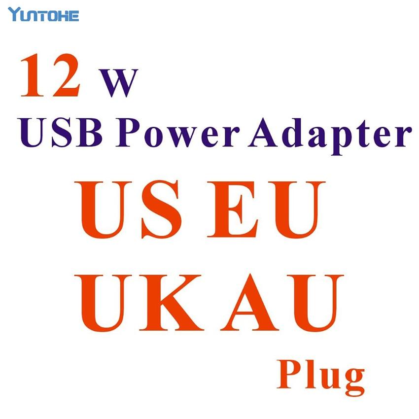 100pcs lot Real 2 4A 12W US AU UK EU plug AC Wall Charger usb Power