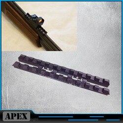 MP-27 ، Izh-27 ، MP-153 ، Rem SPR-453 التهوية الضلع السكك الحديدية 7 مللي متر ويفر-Picatinny جبل الصلب الأسود