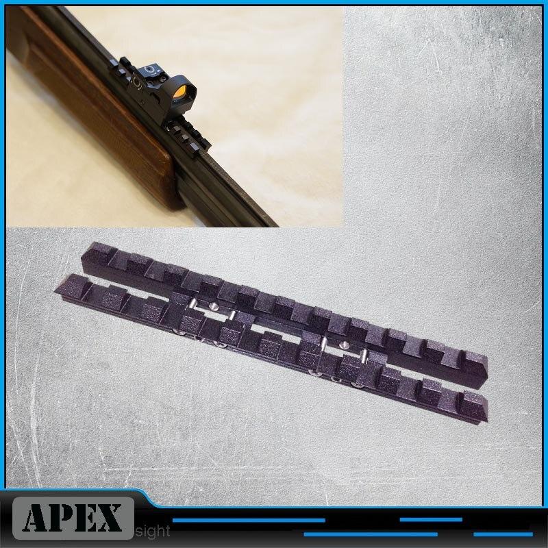 MP-27, Izh-27, MP-153, Rem SPR-453 rail de nervure ventilé 7mm tisser-picatinny monture acier noir