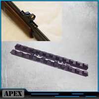 MP-27, Izh-27, MP-153, Rem SPR-453 riel ventilado 7mm Weaver-Picatinny montaje acero negro