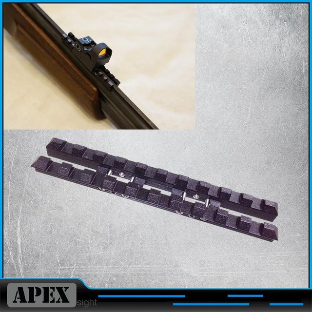 MP 27, Izh 27, MP 153, Rem SPR 453 ventilated rib rail 7mm Weaver Picatinny mount Steel Black