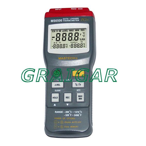 High Accuracy Mastech MS6506 Digital Thermometers Temperature Gathering Table Meter high accuracy mastech ms6506 digital thermometers temperature gathering table meter