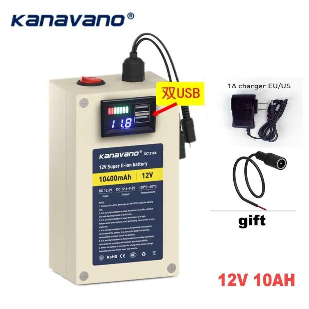 Оригинальный 12V ионно-литиевая аккумуляторная батарея ультра-портативный 10ah 20ah 25AH литий-ионный LiFePO4 с USB Бесплатная доставка