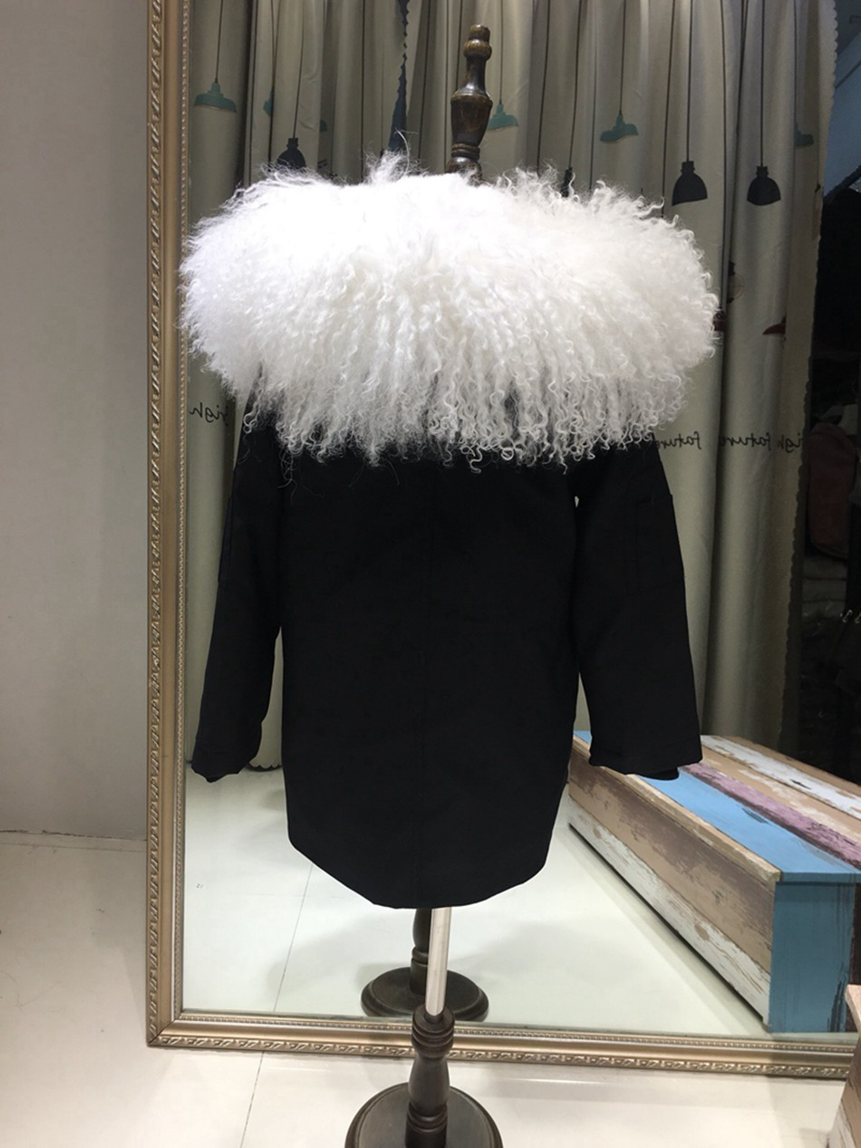 Parent-childs natural fur parkas with hood (12)