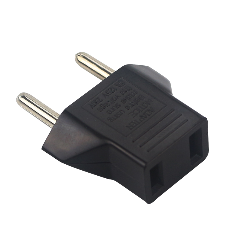 Portable US To EU Plug Converter USA To Euro Type Plug Adapter For Travel Household US Standard To European Power Plug