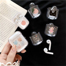 цена на Cute Cartoon PC Cases For AirPods Case Transparent hard Pattern Protective Cover Bluetooth Wireless Earphone Case For Airpods #4