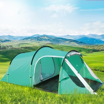 Camping hiking waterproof camping tent ,gazebo,awnings tent camping tourist tent sun shelter beach tent one hall and one room 2015 new style high quality double layer untralarge one hall one bedroom family party camping tent