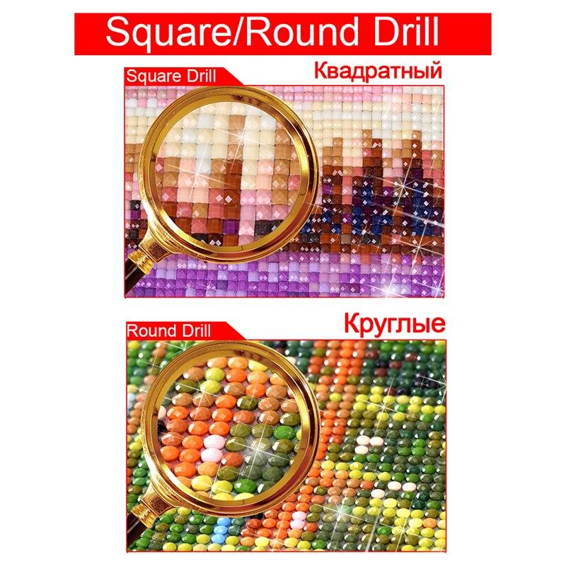 Кабина 5D DIY алмазов картина вышивки крестом полный квадратный алмаз вышивка полный круглый бриллиант мозаичный Декор для дома DD