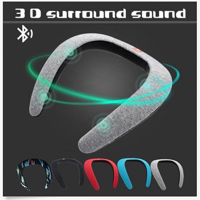 Auricular Bluetooth inalámbrico de banda para el cuello estéreo Cancelación de ruido Speaker FM AUX USB SD estéreo Auriculares auriculares para teléfono xiaomi